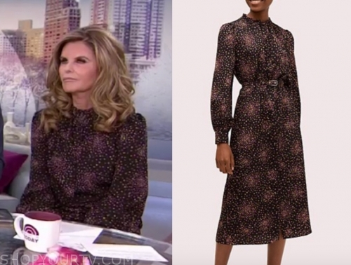 maria shriver's dot printed midi dress, the today show