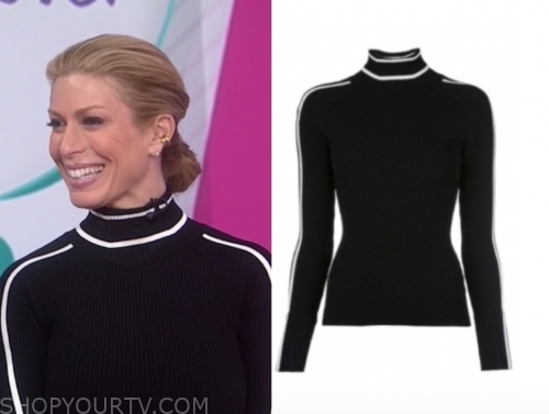 jill martin, black and white turtleneck top, the today show