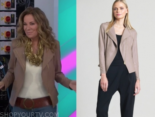 kathie lee gifford, the today show, beige leather jacket