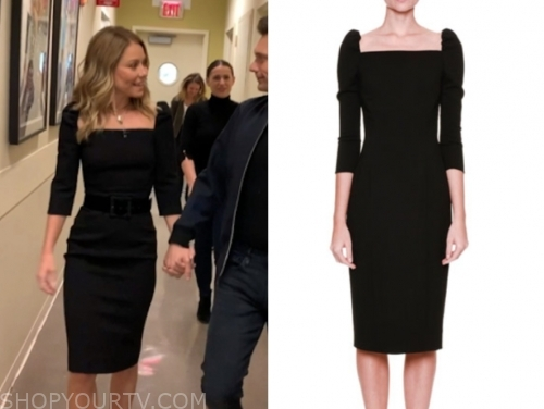 kelly ripa's black sheath dress, live with kelly and ryan