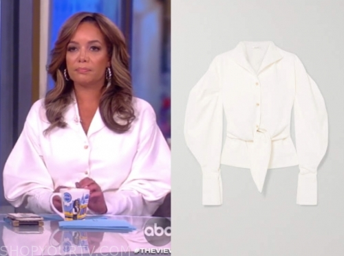 sunny hostin, ivory shirt, the view