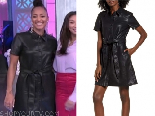amanda seales's black leather dress, the real