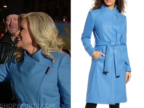 janice dean's blue coat, fox and friends