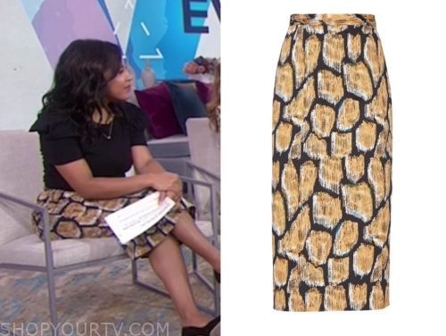 sheinelle jones, the today show, printed pencil skirt