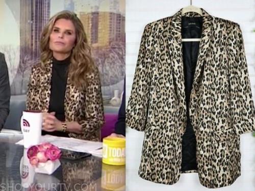 maria shriver, leopard blazer, the today show
