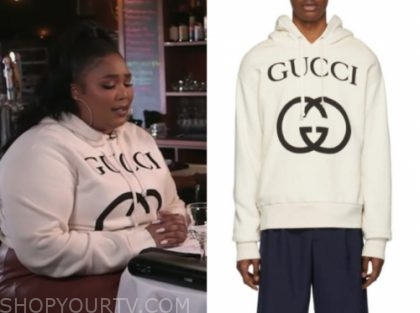 lizzo's gucci logo sweater, cbs this morning
