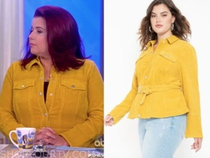 ana navarro, yellow corduroy jacket, the view