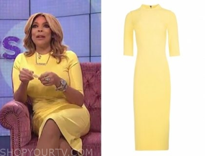 wendy williams, yellow dress, the wendy williams show