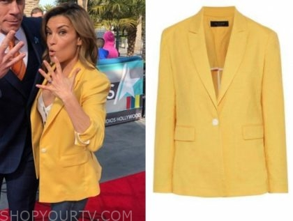 kit hoover, access hollywood, yellow blazer