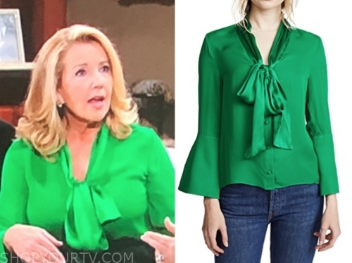 nikki newman's green blouse, y&r