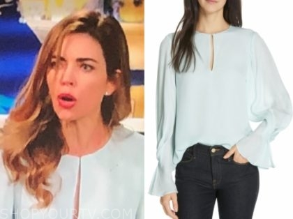 victoria newman's keyhole blouse, y&r