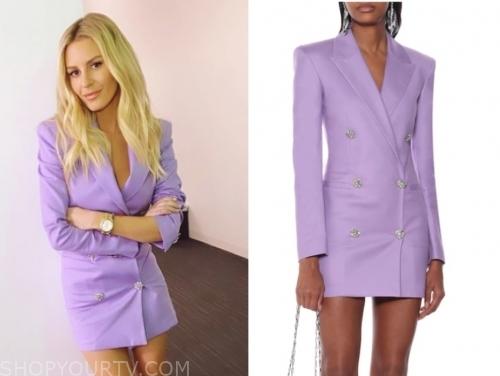 morgan stewart, purple blazer dress, E! news, nightly pop