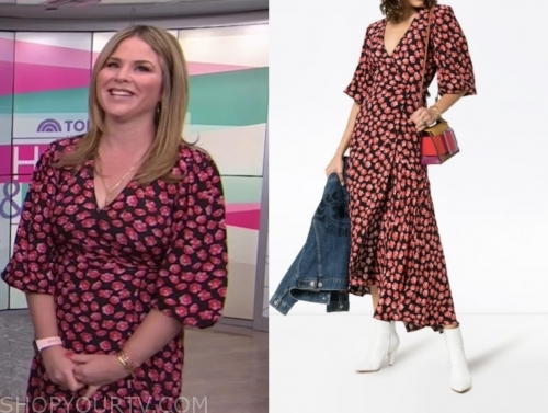jenna bush hager, floral wrap midi dress, the today show