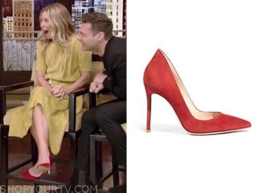 kelly ripa, red pumps, live with kelly and ryan