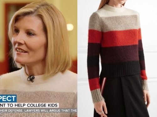 the today show, kate snow, colorblock mohair sweater