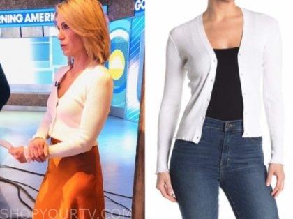 amy robach, white sweater, gma