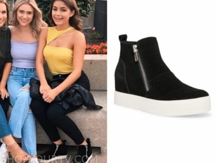 hannah ann s., the bachelor, black suede sneakers