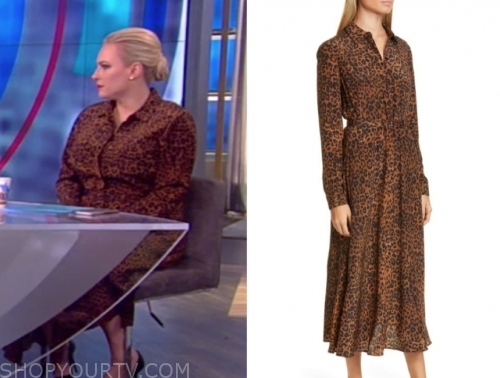meghan mccain, the view, leopard shirt dress