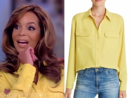 sunny hostin, yellow blouse, the view