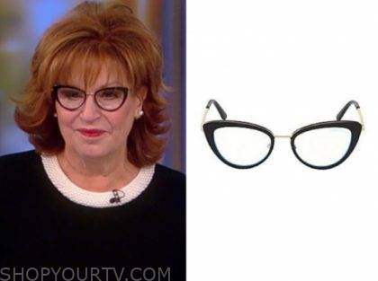 joy behar, black frame glasses, the view