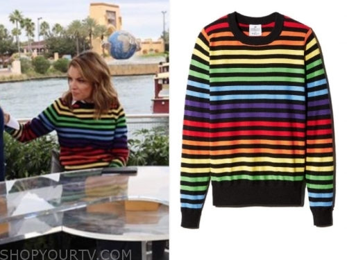 kit hoover, rainbow stripe sweater, access hollywood