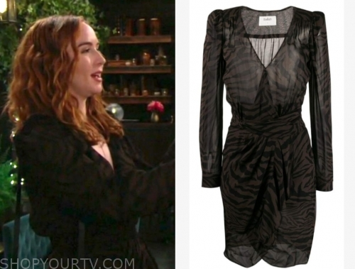 mariah copeland, camryn grimes, the young and the restless, zebra print dress