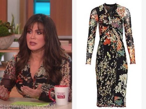 marie osmond, the talk, black floral dress