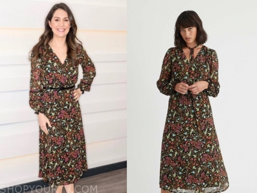 laura tobin, good morning britain, floral midi dress