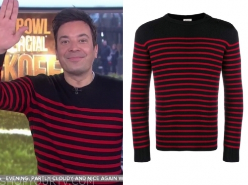 jimmy fallon, striped sweater, the today show