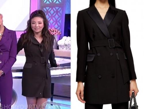 the real, jeannie mai, black blazer dress