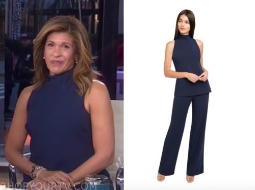 hoda kotb, the today show, navy blue jumpsuit