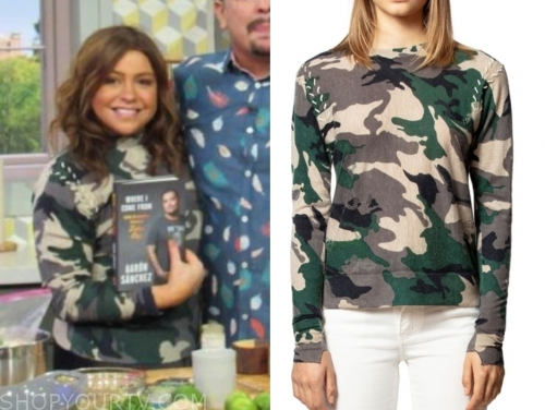 rachael ray, camouflage sweater, the rachael ray show