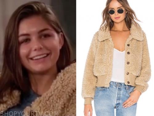 hannah ann sluss, the bachelor, brown teddy jacket