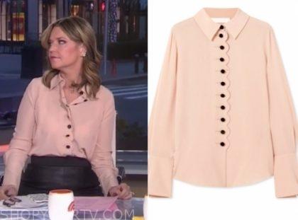 savannah guthrie, the today show, peach scallop blouse