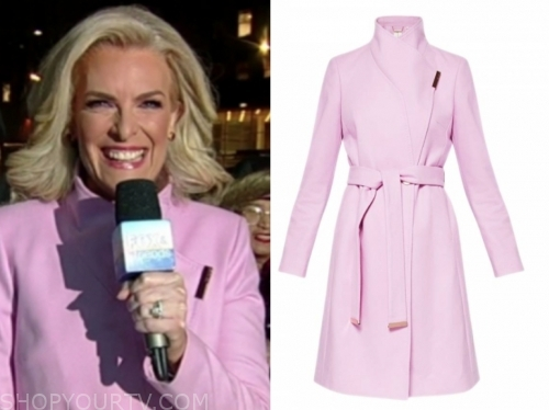 janice dean, fox and friends, pink coat