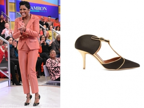 tamron hall, tamron hall show, black pointed heels