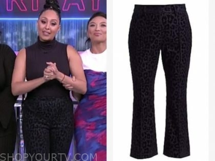 tamera mowry, the real, leopard pants