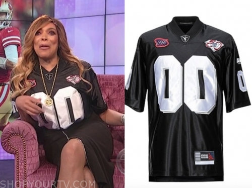 wendy williams, the wendy williams show, black football jersey