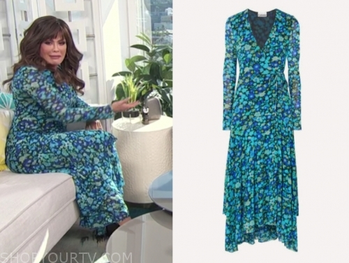 marie osmond, E! news, daily pop, green and blue floral dress