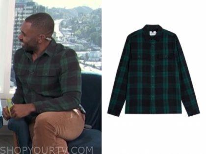 justin sylvester, E! news, daily pop, green and black check shirt