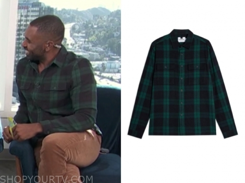 justin sylvester, E! news, daily pop, green and black check shirt
