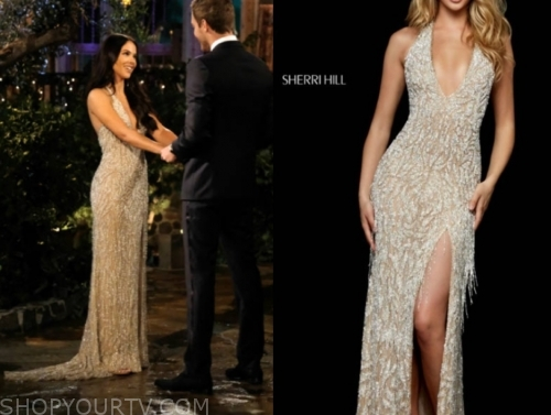 sydney h., the bachelor, metallic sequin gown