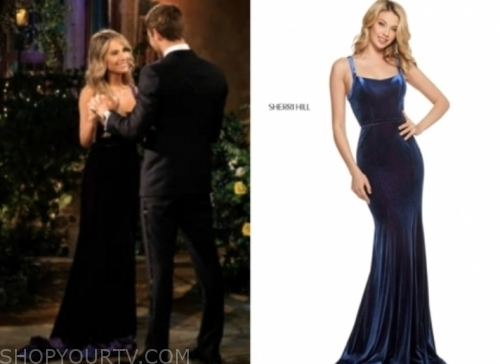 victoria p.'s velvet gown