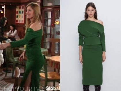 phyllis newman, michelle stafford, the young and the restless, green dress