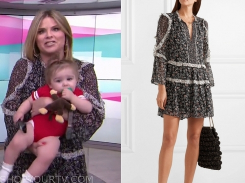 jenna bush hager, floral ruffle dress, the today show