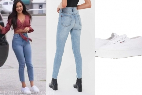 victoria f., skinny jeans, white sneakers, the bachelor