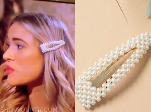 mykenna d., the bachelor, pearl hair clip