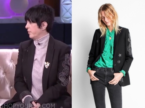 diane warren, black blazer, the real