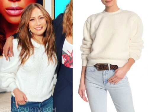 carrie ann inaba, the talk, ivory sweater