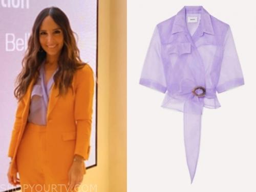 lilliana vazquez, purple top, E! news